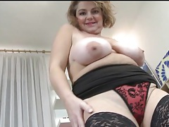 Chubby mature is proud of her big tits tubes