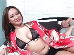 Asian cutie in lingerie before her porn shoot starts tubes