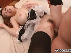 Japanese babe with big naturals fucked lustily tubes