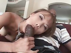 Tall skinny asian gives head to a black cock tubes
