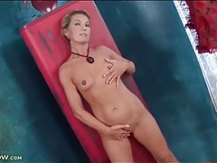 Lean milf janet darling has tiny tits to drool over tubes