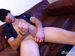 Sexual straight rex jerking off his prick tubes