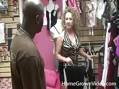 Big titty milf sluts fool around with black guy in store tubes