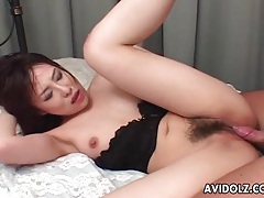 Soaking wet hairy cunt of japanese girl banged tubes