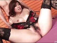 Corset and stockings are sexy on ai okada tubes