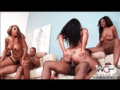 Black cunts and asses fucked in ebony orgy tubes