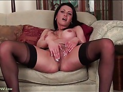 Solo girl with sexy implants masturbates solo tubes