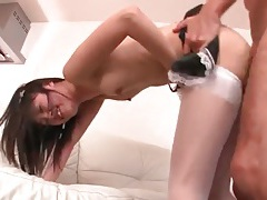 Japanese babe fucked and squirting lustily tubes