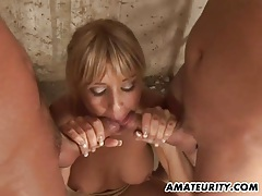 Amateur girlfriend anal gangbang with facials tubes
