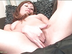 Small tits girl erotically rubs her pussy tubes