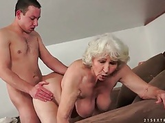 Grey hair granny fucked in hairy pussy tubes