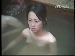 Young naked asians in the public bath are sexy tubes