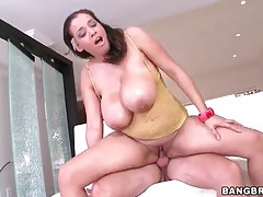 Bbw beauty sensually rides his cock lustily tubes