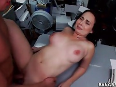 Back room fucking with curvy brunette girl tubes
