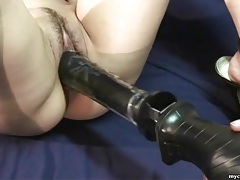 Dildo machine opens up asian pussy lustily tubes