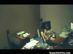 Sexy girl masturbates in the office chair lustily tubes