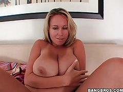 Sucking big tits of brandy talore turns him on tubes