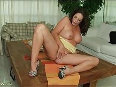 Brunette with a big ass masturbates cunt tubes