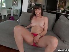 Dana dearmond strips off cute dress and toys her ass tubes