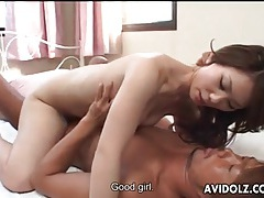 Japanese blowjob and a naughty cock ride tubes