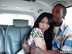 Eating out latina pussy in the car tubes