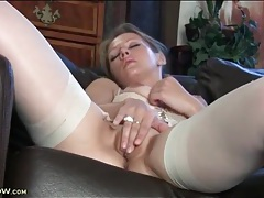 Elegant lingerie on finger fucking mommy babe tubes