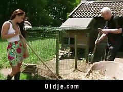 Farmer grandpa fucks hardcore naughty young girl tubes
