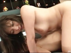 Japanese threesome sex with lusty cock ride tubes