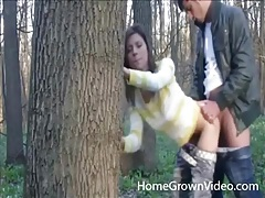 Homemade doggystyle fucking in the woods tubes