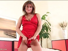 Seductive valentina ross in a sexy red dress tubes