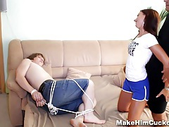 Make him cuckold - cheater punished like a cuckold tubes