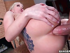 Tramp stamp slut ass fucked in doggystyle tubes