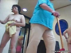 Voyeur video in locker room with cute asian girls tubes