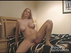Big natural titty blonde masturbates bald pussy tubes