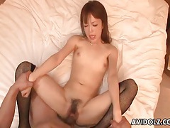 Missionary japanese fuck with a sexy creampie tubes