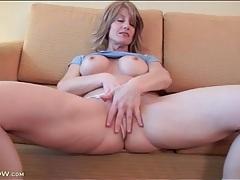 Lana wilder models fake tits and masturbates solo tubes