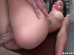 Slut lubes her snatch for hot back room sex tubes