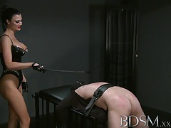 Bdsm xxx silent hooded slave boy receives brutal treatment from gorgeous dominant mistress tubes