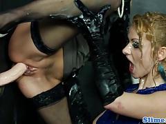 Gloryhole lesbian fisting wet box tubes