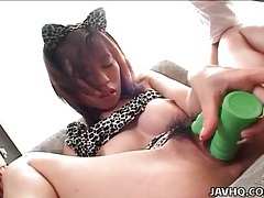 Dildo fucks japanese pussy nice and slow tubes