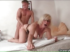 Blonde mature moans in hot doggystyle sex tubes