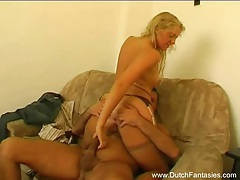 Blonde milf from holland pleases the cock tubes