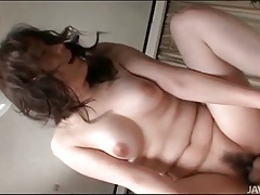 Tight japanese asshole fucked by hard cock tubes