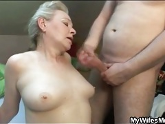 Chubby blonde mature fucked from behind tubes