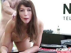 Young brunette assfucked hard and fired anyway tubes