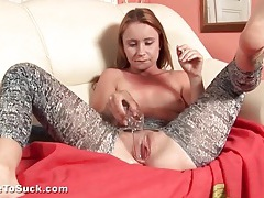 Teen cunt fingered and opened by speculum tubes