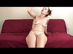 Naked lelu love makes a mess with her spit tubes