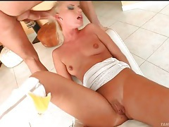 Rough throat fucking of a naughty young blonde tubes