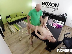 Teeny slut fucks her boss hard hoping not to get fired tubes