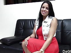 Hot latina fucking her casting agent tubes